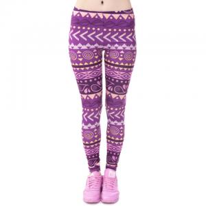 Purple Print Leggings